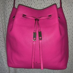 ♠️kate spade Large Pebbled Leather bucket bag♠️
